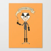 badger Canvas Prints featuring Badger by Derek Eads