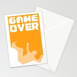 Gamer Game Over Gambling Loser Funny Gift Stationery Cards