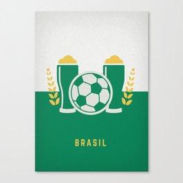 cerveja e futebol Canvas Print