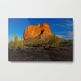 Courthouse Rock in the Eagletail Wilderness of Arizona Westside Metal Print