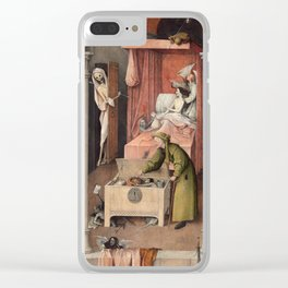 Hieronymus Bosch - Death and the Usurer Clear iPhone Case