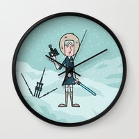 han solo Wall Clocks featuring EP5 : Han Solo by Jason Yang