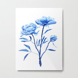 Blue peony 2 Metal Print