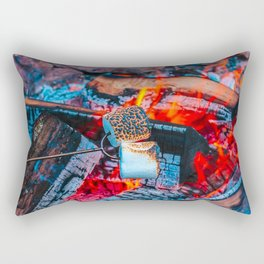 Roasting Marshmallows by the Campfire Rectangular Pillow