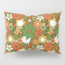 Funky Daisy Floral in Harvest Pillow Sham