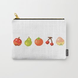 Fruits pixel art | Apple Pear Orange Cherry Peach | Version 2 Carry-All Pouch