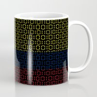 colombia Mugs featuring digital Flag (Colombia) by seb mcnulty