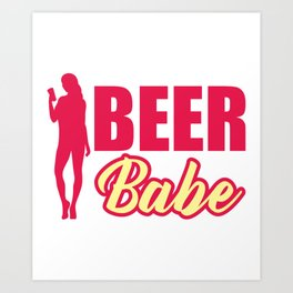 Sexy Beer Babe Craft Beer Gift For Beer Lovers Art Print