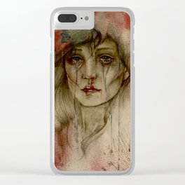 When touch became sight Clear iPhone Case