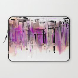 City in Purple and Blush Laptop Sleeve