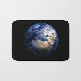 Planet Earth Satellite Photograph Bath Mat