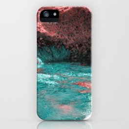 Volcanic mainsail on Mediterranean sea surreal landscape iPhone Case