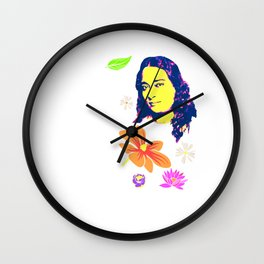 The greatest art of progress comes from honest introspection | Paramahansa Yogananda Wall Clock