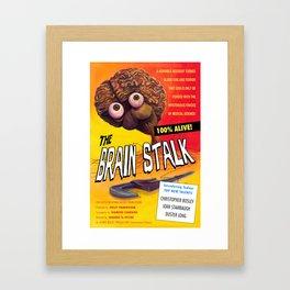 """""""The Brain Stalk"""" Movie Poster Framed Art Print"""