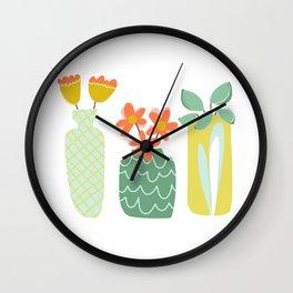 Friendliest Flowers Wall Clock