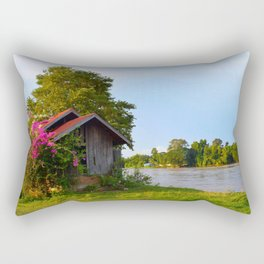 Floral Cabin Rectangular Pillow