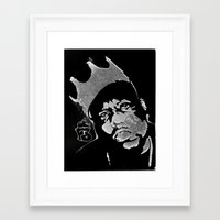 biggie Framed Art Prints featuring Biggie by Factory Three
