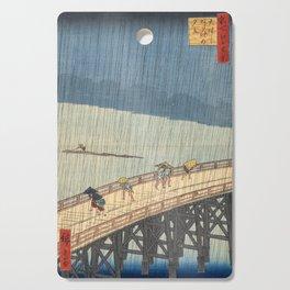 Sudden Shower over Shin-Ohashi Bridge, Hiroshige Cutting Board