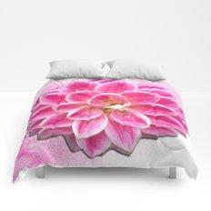 Pretty in Pink Dahlia Comforters