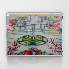 The Toad of Cherry Blossom River Laptop & iPad Skin
