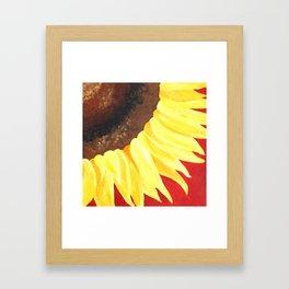 Sunflower on Red #2 Framed Art Print