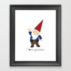 Gnome Love Framed Art Print