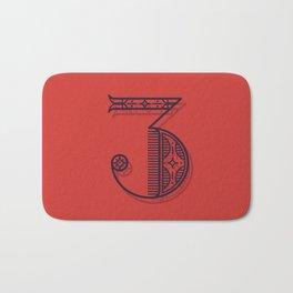 Alphabet Drop Cap Series Bath Mat