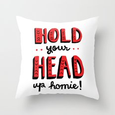 Head Up Throw Pillow
