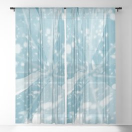 Spotted Leaves. nature, blue, white, decor, art, leaves, leaf, society6 Sheer Curtain