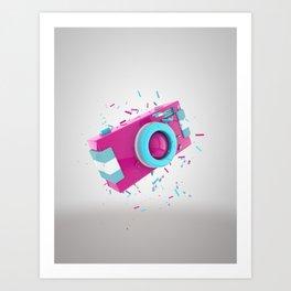 Candy camera Art Print