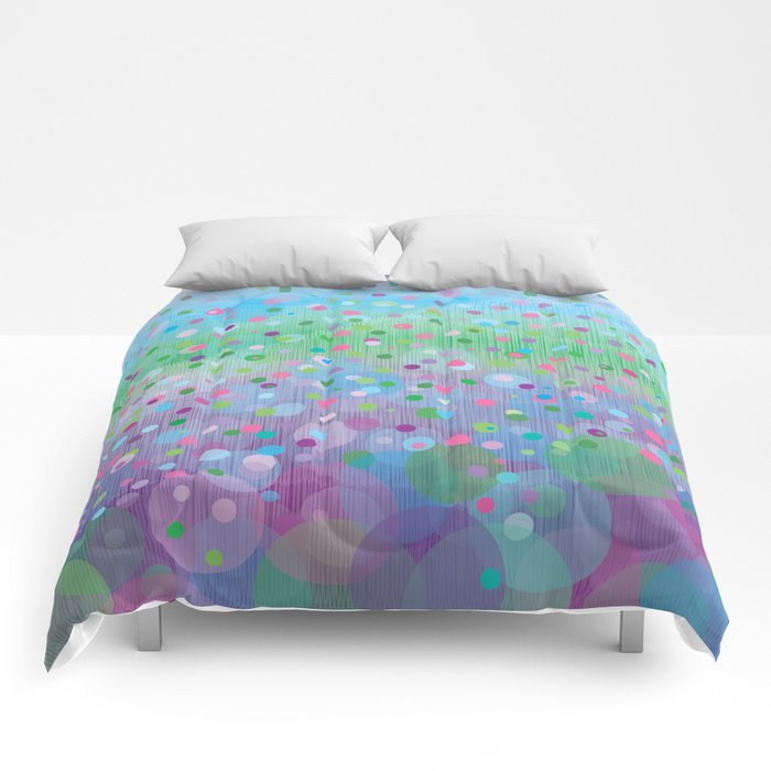 Colorful Rain Comforters