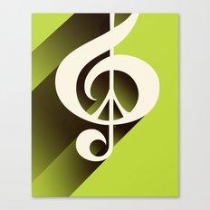 Lime Green Retro Music & Peace  Canvas Print
