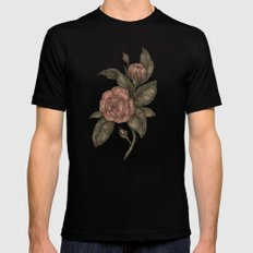 Roses Black Mens Fitted Tee MEDIUM