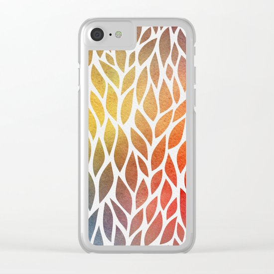 Petals Pattern #4 Clear iPhone Case