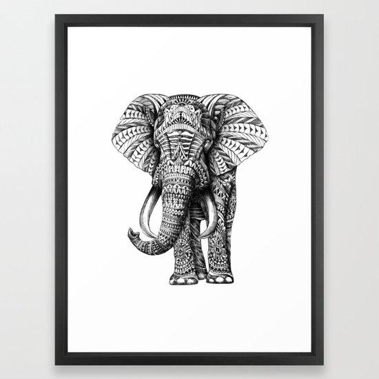 Ornate Elephant Framed Art Print by bioworkz | Society6