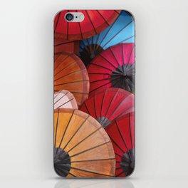 Paper Colored Umbrellas from Laos iPhone Skin