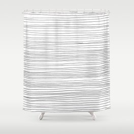 Fine Lines Shower Curtain