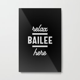 Bailee Personalized Name Birthday Gift Metal Print