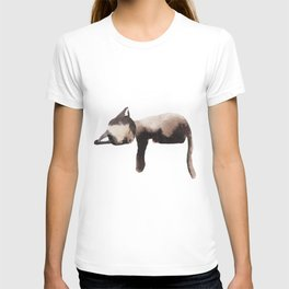 Sleepy Kitten in Watercolor - Brown Cat Sleeping T-shirt