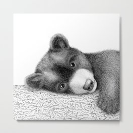 Sleepy bear Metal Print