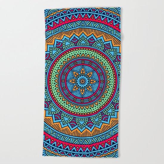 Hippie mandala 52 Beach Towel