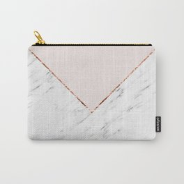 Peony blush geometric marble Carry-All Pouch