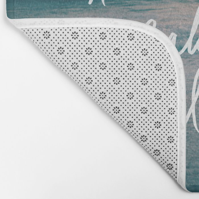 The Ocean is Calling by Laura Ruth and Leah Flores Bath Mat