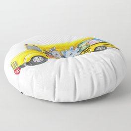 Animal SchoolBus Floor Pillow