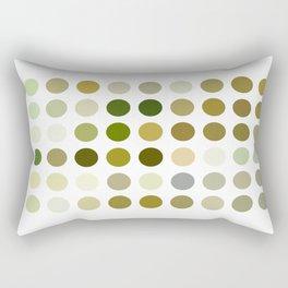 Pale Yellow Poinsettia 1 Dots Rectangular Pillow