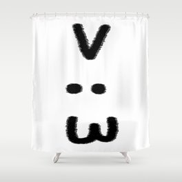 >:3 Shower Curtain