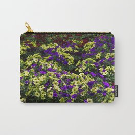 Waves of Petunias Carry-All Pouch