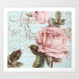 Atelier d'Roses Art Print