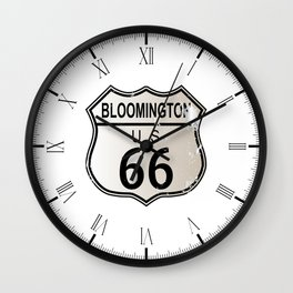 Bloomington Route 66 Wall Clock