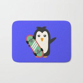 Skateboard Penguin   Bath Mat